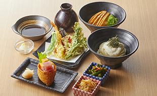 季節の天ぷらとおそばの御膳