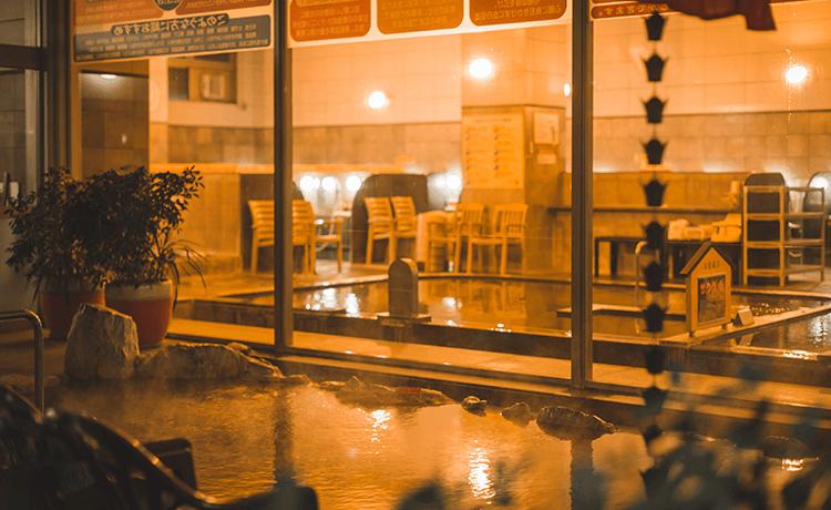 天然温泉岩風呂